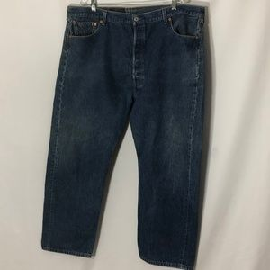 Levis 501xx classic button fly 5 pocket blue jeans